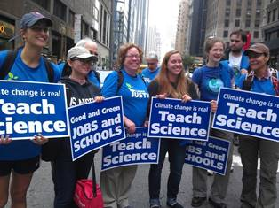 AFT signs at climate change march